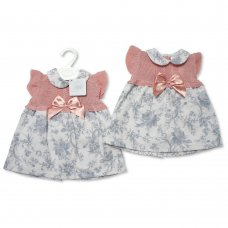 BW-10-066: Baby Girls Knitted Dress With Bow (0-9 Months)