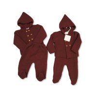 BW-10-1003: Baby Knitted 2 Piece Set- Wine (NB-9 Months)