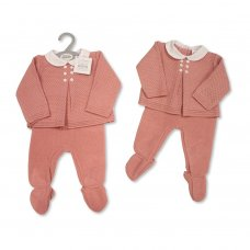 BW-10-1055: Baby Knitted 2 Piece Set (NB-9 Months)