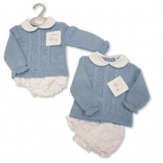 BW-10-1066: Baby Knitted Top & Woven Pant Outfit (NB-9 Months)