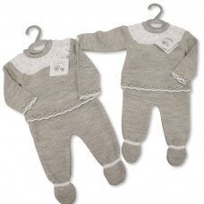 BW-10-1075: Baby Knitted 2 Piece Set (NB-9 Months)