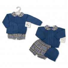 BW-10-1104: Baby Knitted 3 Piece Outfit (NB-9 Months)