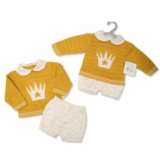 BW-10-1107: Baby Knitted 2 Piece Outfit (NB-9 Months)