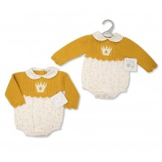 BW-10-1108: Baby Knitted Romper (NB-9 Months)
