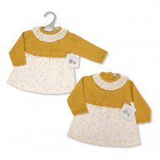BW-10-1110: Baby Knitted Dress (NB-9 Months)