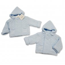 BW-10-634: Baby Boys Knitted Pram Coat (NB-9 Months)
