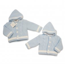 BW-10-636: Baby Boys Knitted Pram Coat (NB-9 Months)