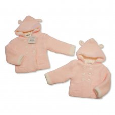 BW-10-639: Baby Girls Knitted Pram Coat (NB-9 Months)