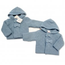 BW-10-643: Baby Boys Knitted Pram Coat (NB-9 Months)