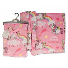 BW-112-1022: Baby Pink Unicorn Print Wrap