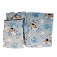 BW-112-1023: Baby Blue Dog Print Wrap