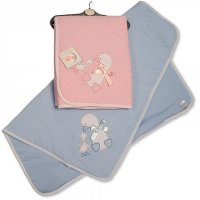 BW-112-1027: Baby Duck Design Cotton Wrap With Bow