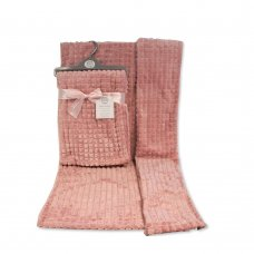 BW-112-1030DP: Baby Dusty Pink Jacquard Wrap - Squares