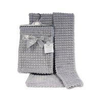 BW-112-1030G: Baby Grey Jacquard Wrap - Squares