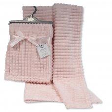 BW-112-1030P: Baby Pink Jacquard Wrap - Squares