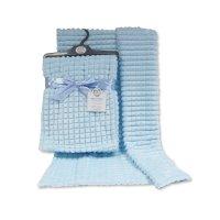 BW-112-1030S: Baby Sky Jacquard Wrap - Squares