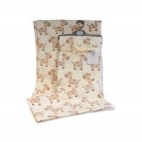 BW-112-1034: Baby Cream Printed Giraffe Wrap