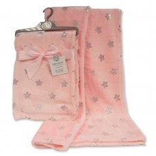 BW-112-1035P: Baby Foil Print Wrap- Pink