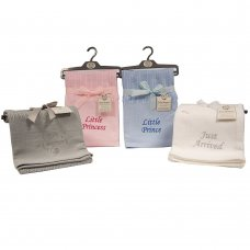 BW-112-1045: Baby Cellular Blanket with Embroidery (70 x 110 cm)
