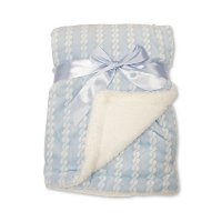 BW-112-1046S: Baby Sky Wrap with Zig-Zag Print and Sherpa Back - Double Layer