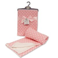 BW-112-1049P: Baby Cotton Wrap With Spots- Pink