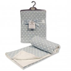 BW-112-1049S: Baby Cotton Wrap With Spots- Sky