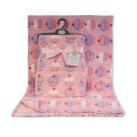 BW-112-1050: Baby Pink Printed Cupcake Wrap