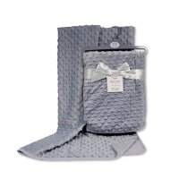 BW-112-943G: Baby Velour Bubble Wrap with Cotton Back- Grey