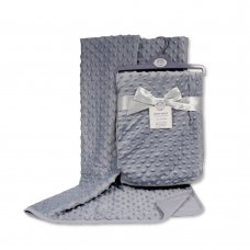 BW-112-943G: Baby Velour Bubble Wrap with Cotton Back-Grey