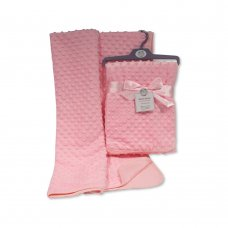 BW-112-943P: Baby Velour Bubble Wrap with Cotton Back-Pink