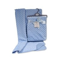 BW-112-943S: Baby Velour Bubble Wrap with Cotton Back- Sky
