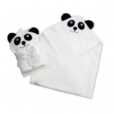 BW-120-117: Baby 3D Panda  Hooded Towel/Robe