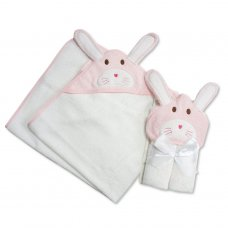 BW-120-119: Baby 3D Bunny Hooded Towel/Robe