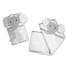 BW-120-120: Baby 3D Elephant Hooded Towel/Robe