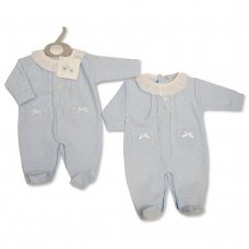 BW-13-381: Baby Boys All in One with Lace & Bows (NB-6 Months)