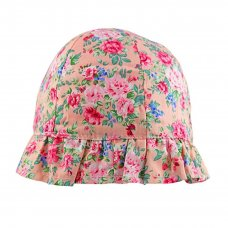 0311: Girls Pink Floral Cloche Hat