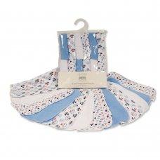 GP-25-0949: Baby Boys Wash Cloths 12-Pack - Patterns