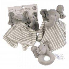 GP-25-0969: Baby Elephant Comforter and Rattle Set