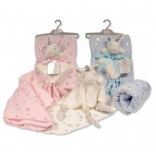 GP-25-0973: Baby Unicorn Comforter with Blanket on Hanger