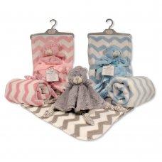 GP-25-0974: Baby Teddy Comforter with Blanket on Hanger