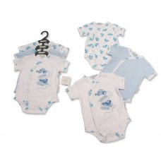GP-25-0977: Baby Boys Race Cars 3 Pack Bodysuits (NB-6 Months)