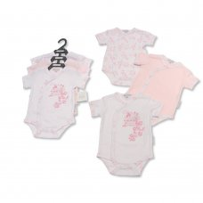 GP-25-0978: Baby Girls Flowers 3 Pack Bodysuits (NB-6 Months)