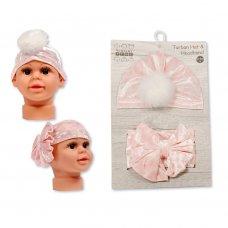 GP-25-1017: Baby Turban Hat and Headband Set (0-6 Months +)