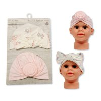 GP-25-1019: Baby Turban Hats - Pack of Two (0-6 Months +)