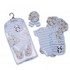 GP-25-1034: Baby Boys 5 Piece Gift Set - Panda (NB-6 Months)