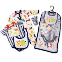 GP-25-1035: Baby Boys 5 Piece Gift Set - Roar (NB-6 Months)
