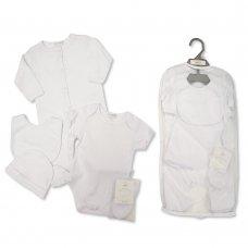 GP-25-1046: Baby Plain White 5 Piece Net Bag Gift Set