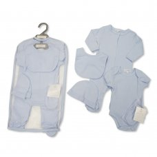 GP-25-1048: Baby Plain Sky 5 Piece Net Bag Gift Set