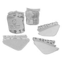 GP-25-1056G: Baby Grey 12 Pack Wash Cloths In a Mesh Pack
