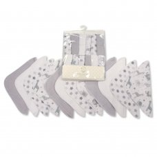 GP-25-1057G: Baby Wash Cloths 12-Pack - Grey